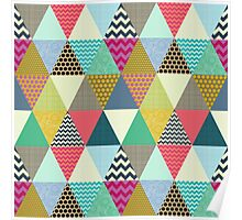 New York Beauty triangles Poster