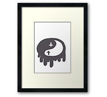 satanic yin yang Framed Print