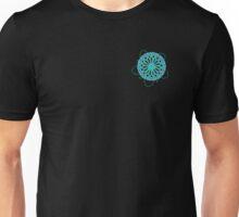 Geometric Flower Blue and Green Unisex T-Shirt