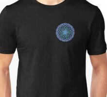 Geometric Flower Ditzy Purple, Blue and Green Unisex T-Shirt