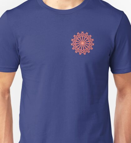 Geometric Flower Angles Angles Angles Red and Orange Unisex T-Shirt