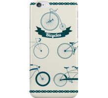 Set of Different Bicycles in Vintage Style.  iPhone Case/Skin