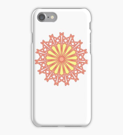 Geometric Flower Angles Angles Angles Red, Yellow and Orange iPhone Case/Skin
