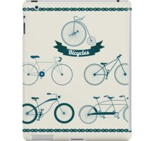 Set of Different Bicycles in Vintage Style.  iPad Case/Skin