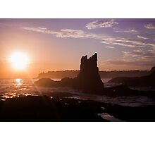 Majestic Sunrise over a natural Cathedral formation Photographic Print