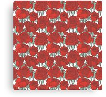 Red graphic roses Canvas Print
