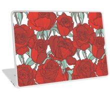Red graphic roses Laptop Skin