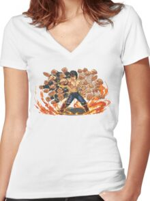 Kenshiro  Women's Fitted V-Neck T-Shirt