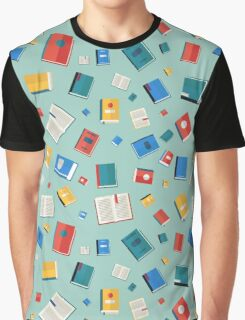 Books Seamless Pattern. Different Colorful Books. Vector illustration in flat style Graphic T-Shirt