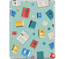 Books Seamless Pattern. Different Colorful Books. Vector illustration in flat style iPad Case/Skin