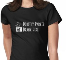Gilmore Girls - Dorothy Parker Drank Here Womens Fitted T-Shirt