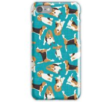 beagle scatter blue iPhone Case/Skin