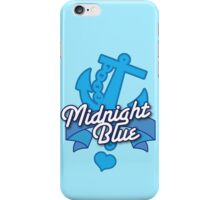 Midnight blue with blue anchor NAVY iPhone Case/Skin