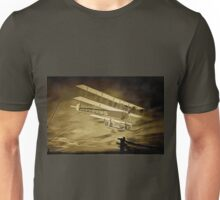 An old style digital painting of an AVRo Triplane 1910 Unisex T-Shirt