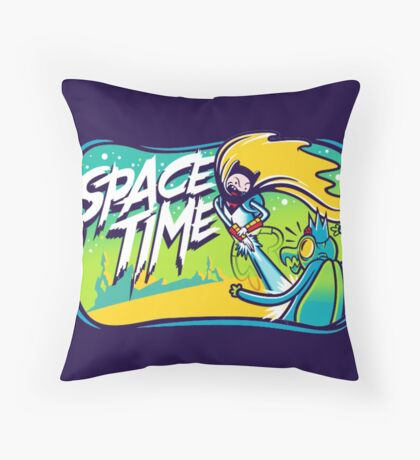 Space Time Adventure Time Throw Pillow