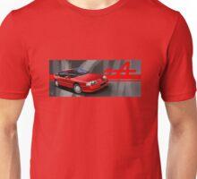 T-shirt Car Art - Red Renault Alpine GTA  Unisex T-Shirt