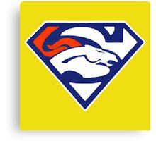 Super Denver Broncos Canvas Print