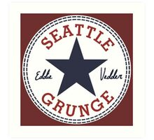 Seattle Grunge All Star Art Print