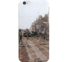 Soldiers of the 1st U.S. inf. Div. patrolling the road to Mortain - August 3, 1944. iPhone Case/Skin