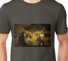 An old style digital painting of Horsey Windmill, Norfolk Broads Unisex T-Shirt