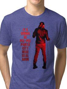 Next stop: Pee-Pee Pants City Tri-blend T-Shirt