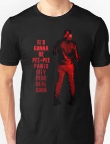 Next stop: Pee-Pee Pants City Unisex T-Shirt