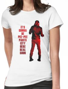 Next stop: Pee-Pee Pants City Womens Fitted T-Shirt