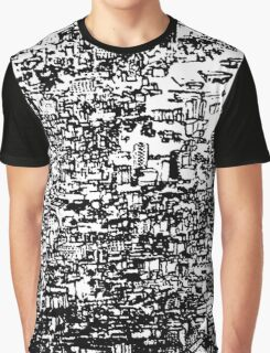 Black and White City Graphic T-Shirt