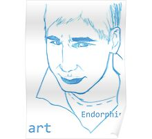 Dan Balan's portrait by Endorphin Art. Poster