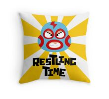 Wrestling Time Throw Pillow