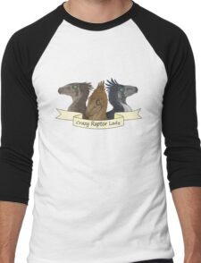 Crazy Raptor Lady Men's Baseball ¾ T-Shirt