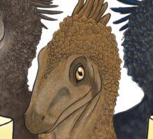 Crazy Raptor Lady Sticker