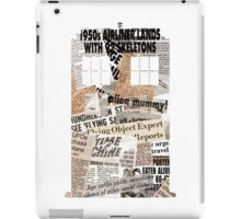 Doctor Who - TARDIS newspaper articles iPad Case/Skin