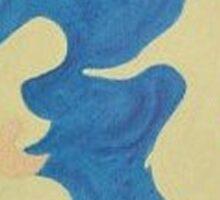 Tenderness Acrylic Abstract Art  Sticker