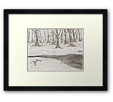 Cold winters day Framed Print