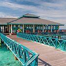Overwater Restaurant in Maldivian Resort by JennyRainbow