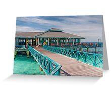 Overwater Restaurant in Maldivian Resort Greeting Card