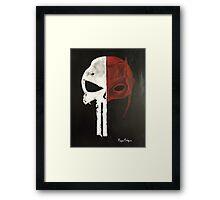 Punisher and Daredevil  Framed Print