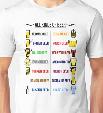 Stereotypical Beer Unisex T-Shirt