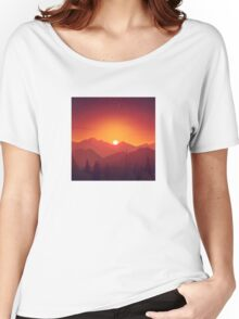Sunrise on a Mountain Women's Relaxed Fit T-Shirt