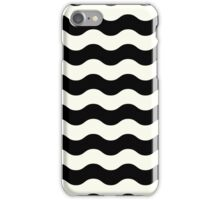 Abstract wave Pattern - black and white iPhone Case/Skin
