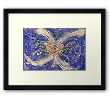 Time space collision Framed Print