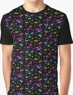 Spacey Neon Shapes Graphic T-Shirt