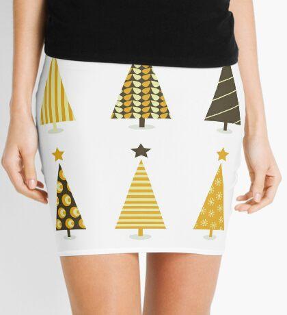 Beautiful Retro Xmas Tree Mini Skirt