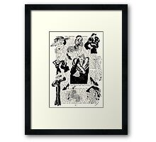 fashion 1930s collage Framed Print