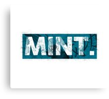 Mint. | Cyan  Canvas Print