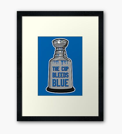 The Cup Bleeds Blue - New York Rangers Stanley Cup Playoff Shirt Framed Print