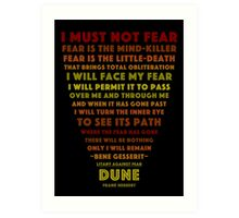 Litany Against Fear Art Print