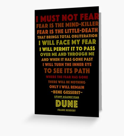 Litany Against Fear Greeting Card