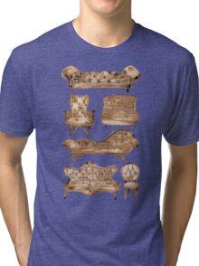 Victorian Lounge – Sepia Palette Tri-blend T-Shirt